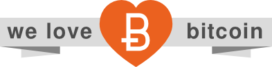 We love Bitcoin Logo