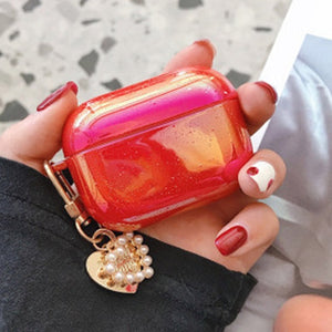 Pearl Shell Airpods Case with Keychain - Phonocap