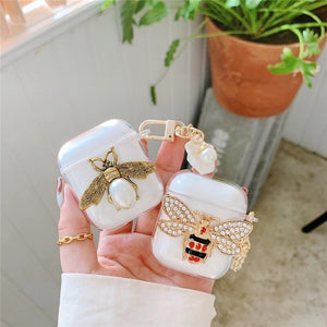 Transparent Pearl Airpods case - Phonocap