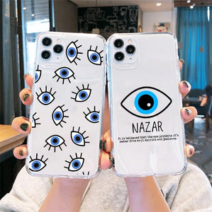 Blue Evil Eye Phone Case