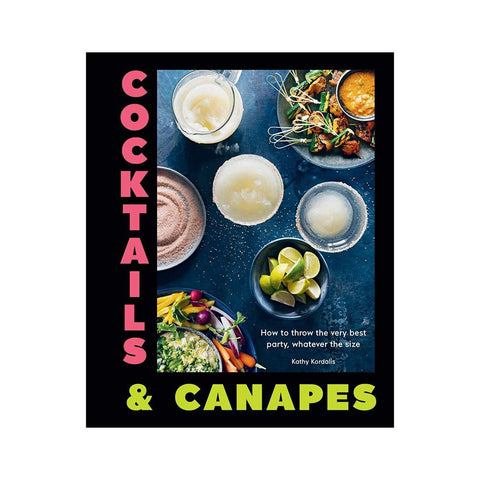 book cover of Cocktails and Canapes recipes