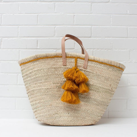 Handwoven Basket Tote Bag for women By Quince Living