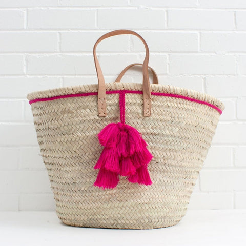 Handwoven Basket Tote Bag by Quince Living