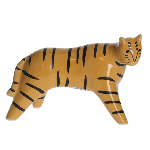 miniature tiger ornament on a white background