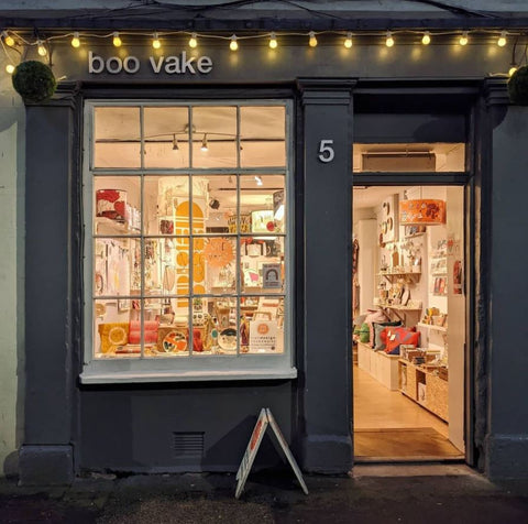 boo vake shop front in perthshire scotland
