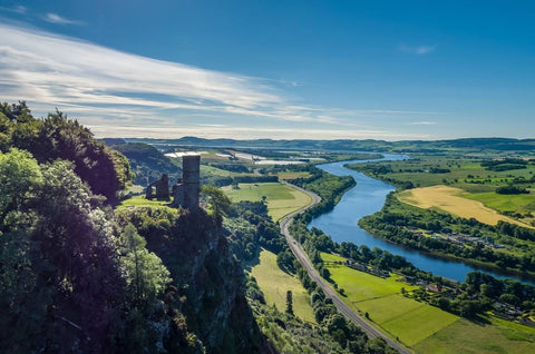 view over the river tay from kinnoull hill perth scotland
