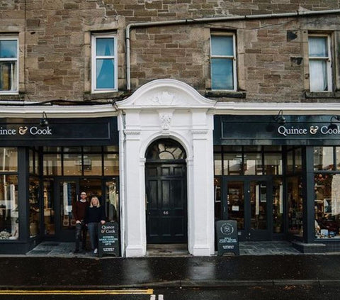 quince and cook shop front on princes street perth