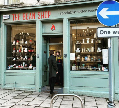 street view of the bean shop store front in perth city centre