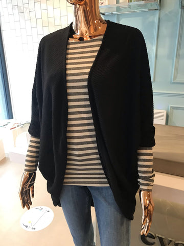women's knitted black cardigan on mannequin