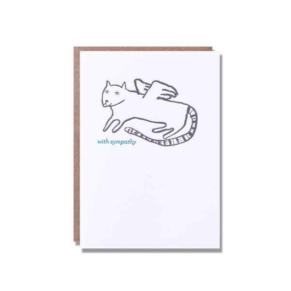 Angel Cat Sympathy Card