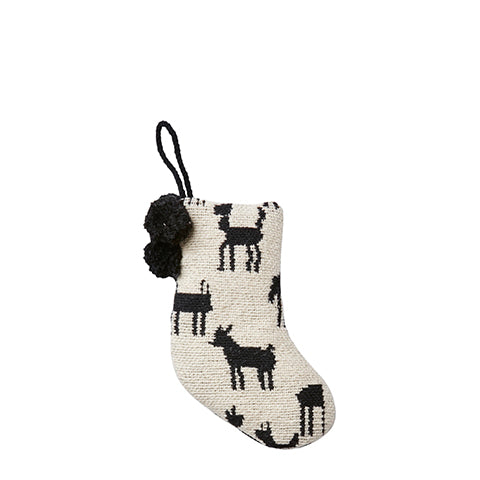Cotton Reindeer Mini Stocking