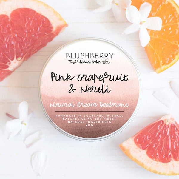 Pink Grapefruit & Neroli Natural Cream Deodorant