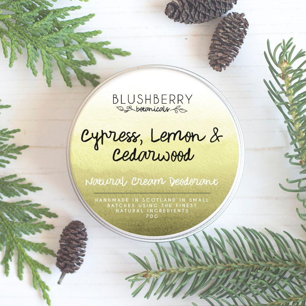 Cypress, Lemon & Cedarwood Deodorant