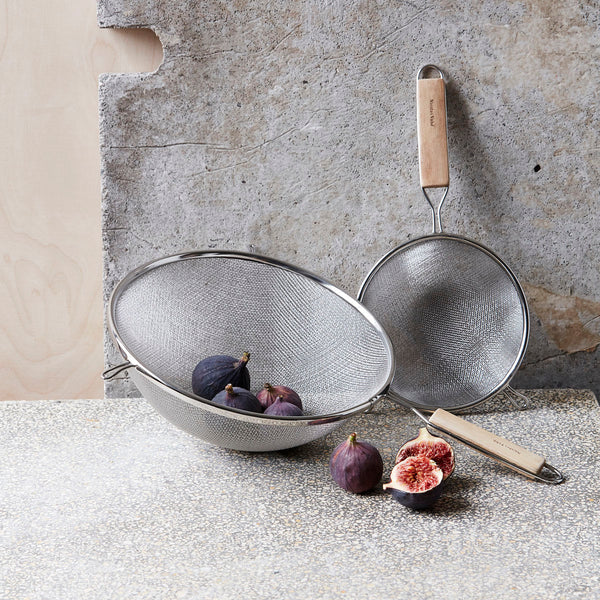 Large Wooden Handle Sieve