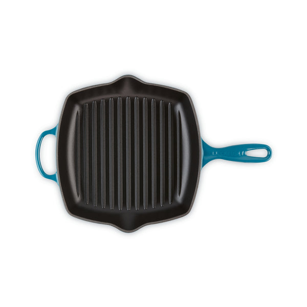 Le Creuset Cast Iron Square Grill - Teal
