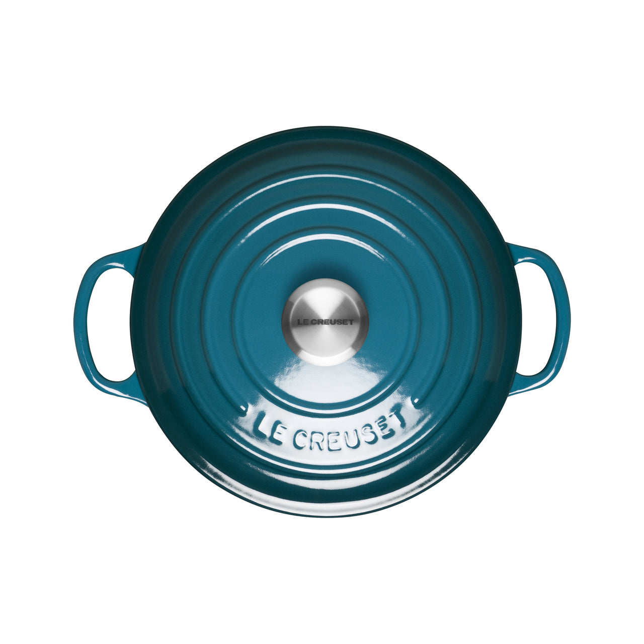 Le Creuset Signature Cast Iron Round Casseroles - Deep Teal