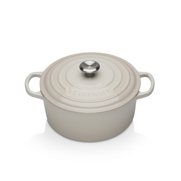 Le Creuset Signature Cast Iron Round Casseroles - Meringue