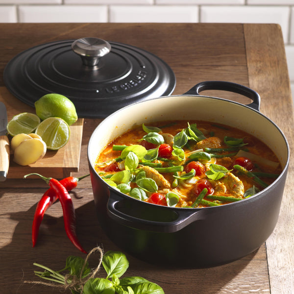 Le Creuset Signature Cast Iron Round Casseroles - Satin Black