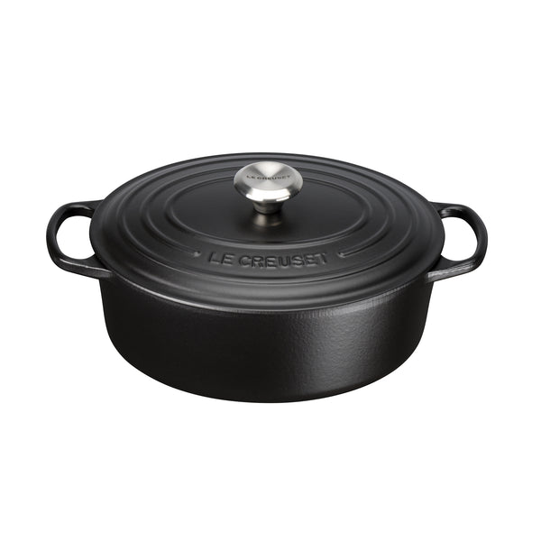 Le Creuset Signature Cast Iron Oval Casserole - Satin Black