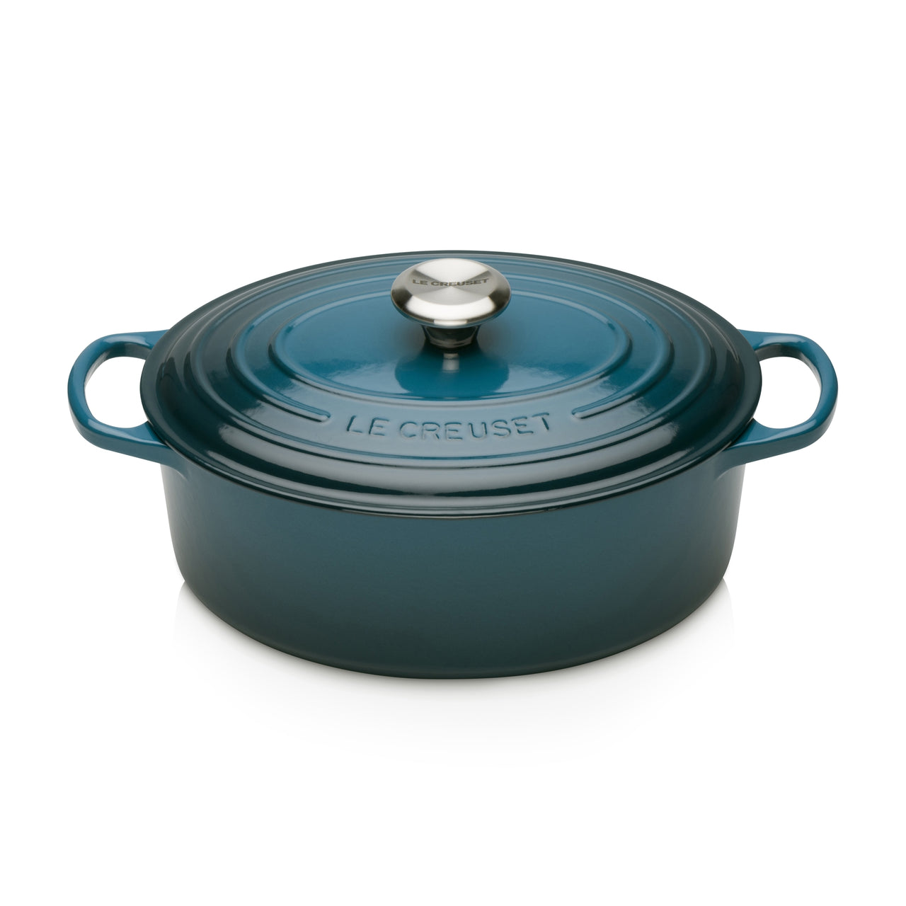 Le Creuset Signature Cast Iron Oval Casserole - Teal