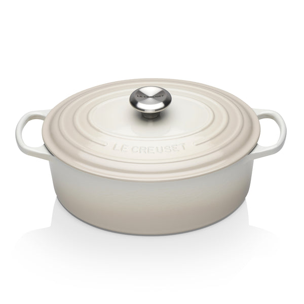 Le Creuset Signature Cast Iron Oval Casserole - Meringue