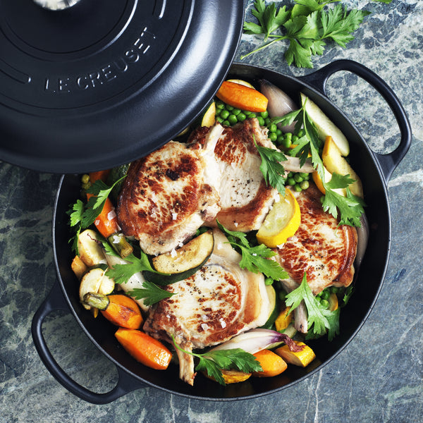 Le Creuset Signature Cast Iron Shallow Casserole - Satin Black