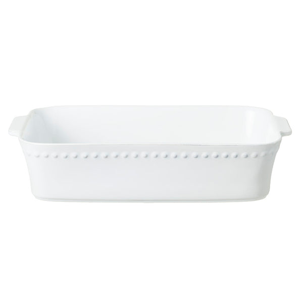 Pearl White Rectangular Baking Dish