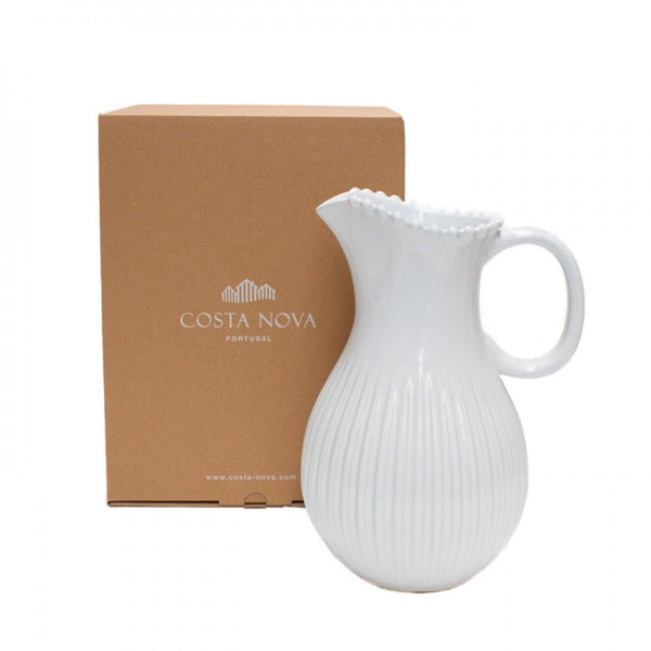 Pearl White Pitcher Jug