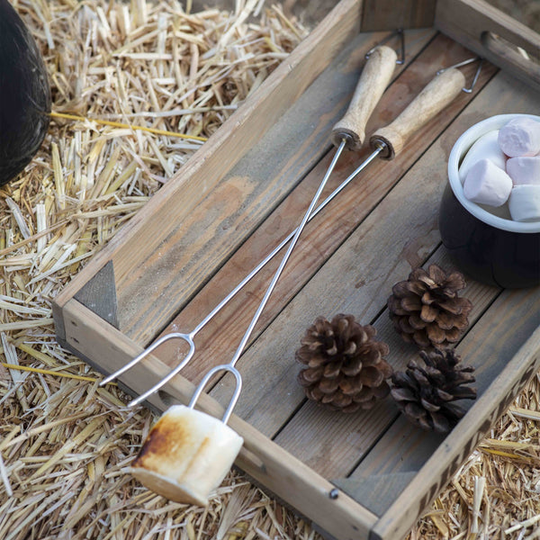 Set of Two Marshmallow BBQ Forks