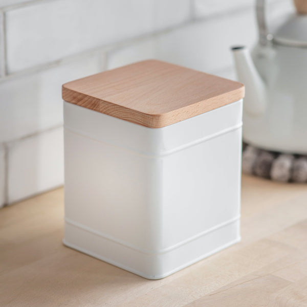 Borough Large Storage Canister - Lily White