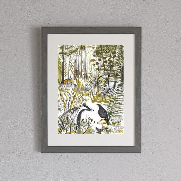 The Badger & Crow Art Print