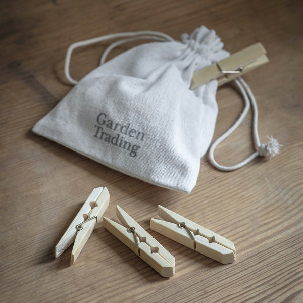 Pack of 12 Bamboo Pegs