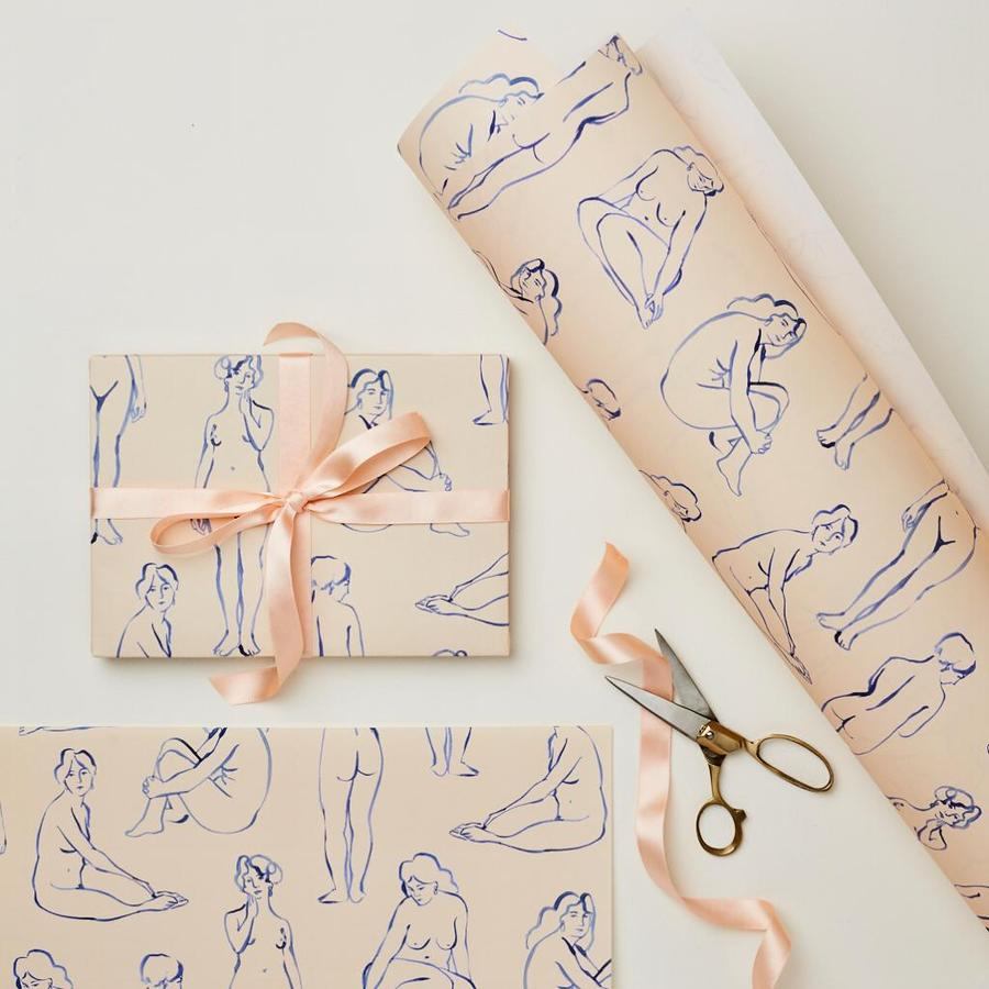 Blue Nudes Gift Wrap Sheets