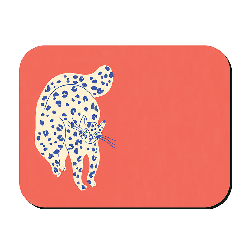 Bright Cats Placemat - Bold Coral