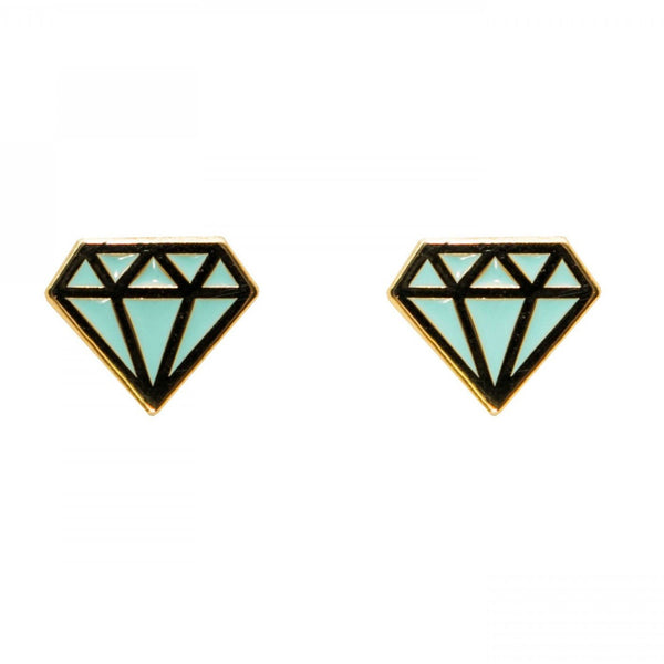 Diamond Enamel Earrings