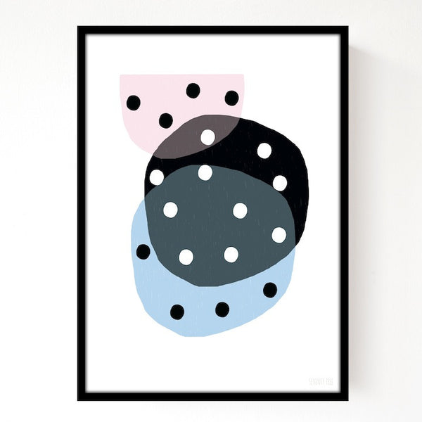 Dotty Circles Print - Quince Living