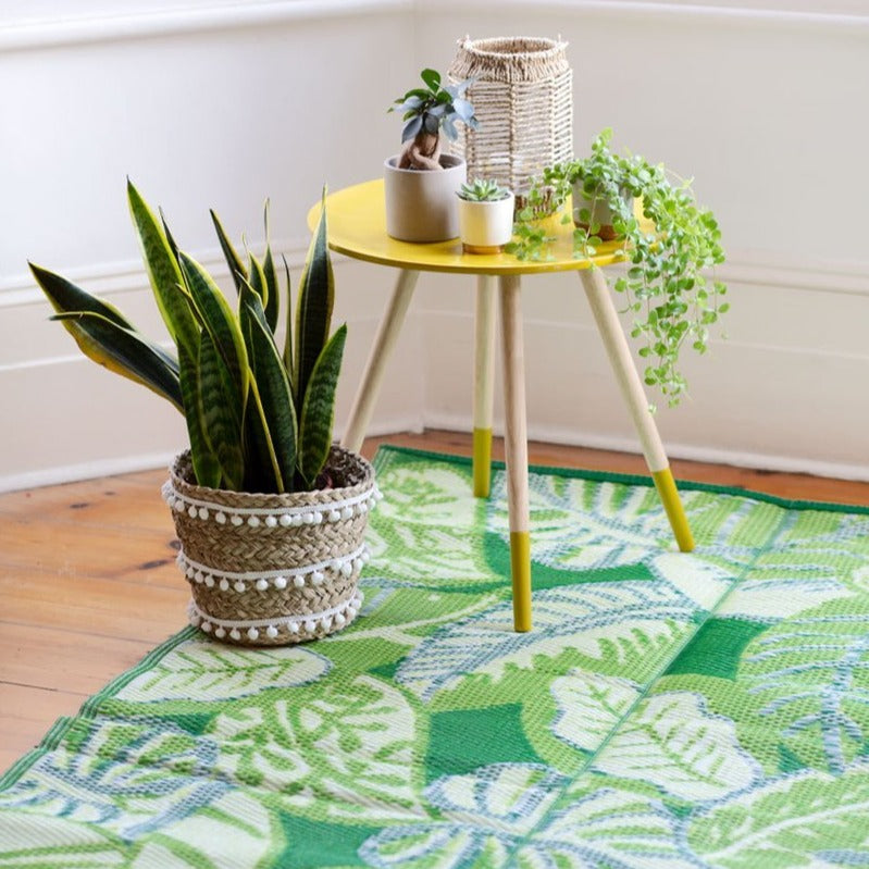 Tropical Leaf Outdoor Rug