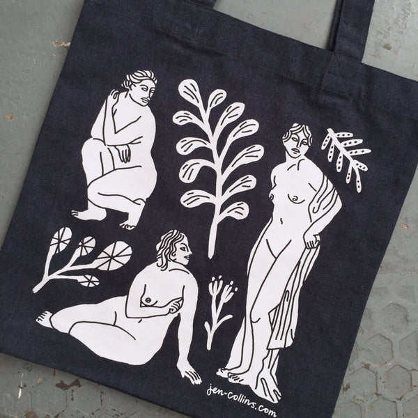 Forms Tote Bag - Navy