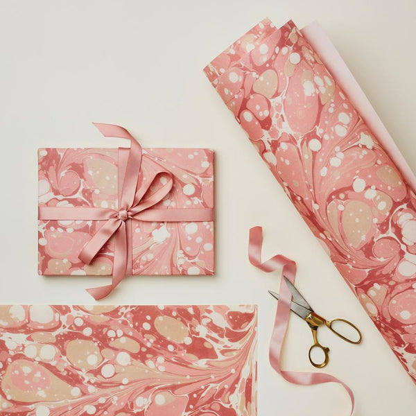 Pink Marble Gift Wrap Sheets