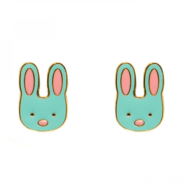 Bunny Enamel Earrings