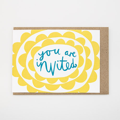 'You are Invited' Pack of 8 Invite Cards