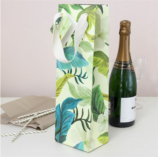 Painted Leaf Bottle Bag
