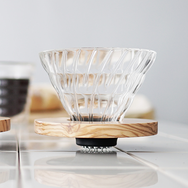Glass & Olive V60 Wood Coffee Dripper