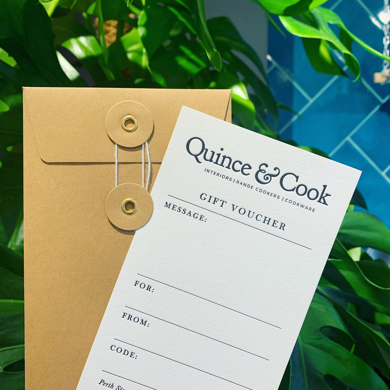 Quince & Cook Gift Vouchers - Sent by Post