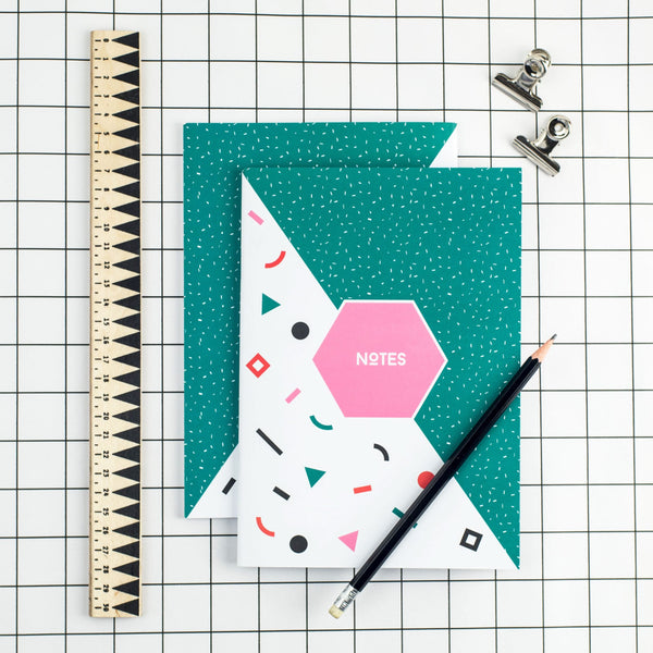 80's Teal Notepad