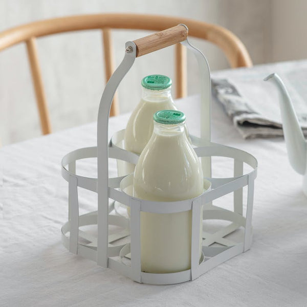 Portland Milk Bottle Holder - 4 or 6 Bottle