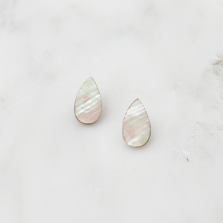 Raindrop Mother of Pearl Studs