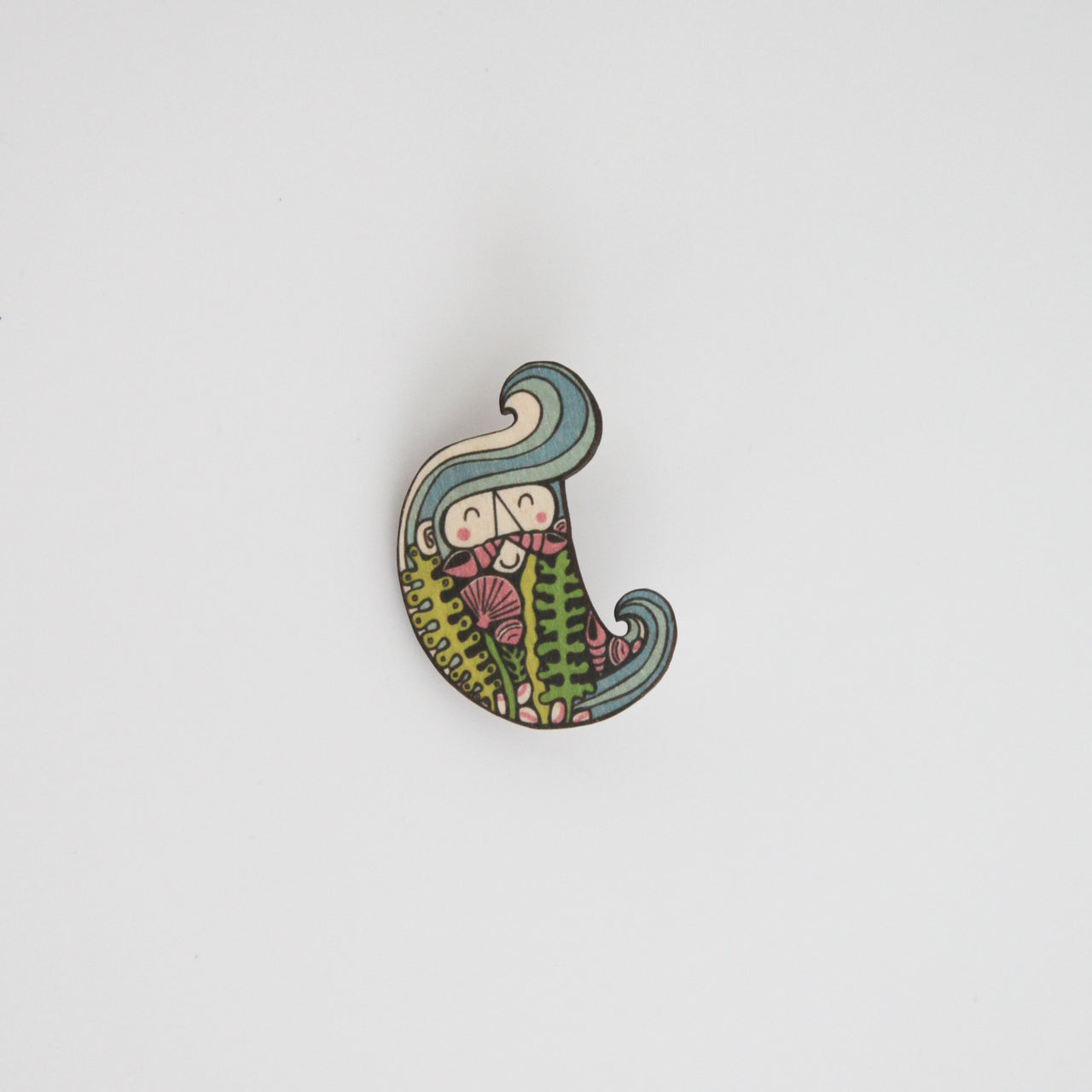 Merman Mur Brooch