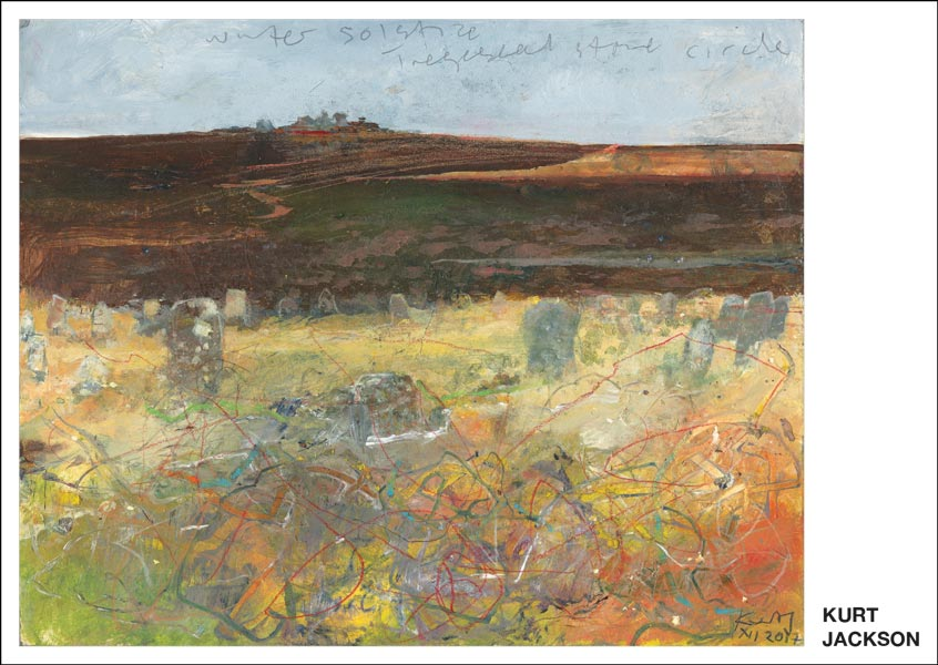 Winter solstice, Tregeseal Stone Circle. 2017.  Postcard. Pack of 10.