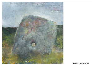 Kenidjack holed stone. 2019.  Postcard. Pack of 10.